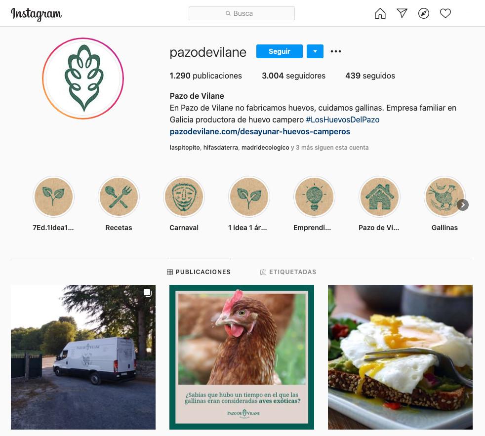 Instagram de Pazo de Vilane