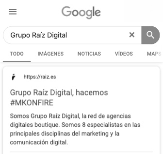 Grupo Raíz Digital en Google