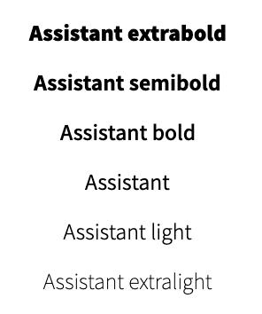 Tipografía assistant